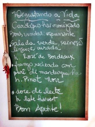 DEGUSTANDO A VIDA JANTAR HARMONIZADO