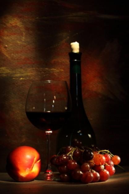 vinho frutas