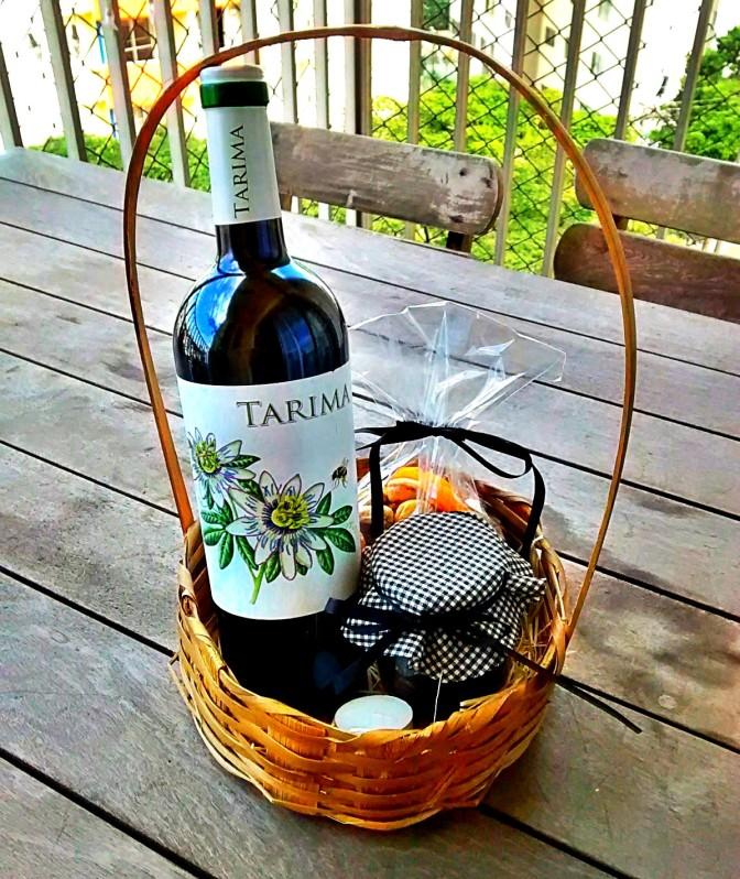 Cesta para o Dia dos Namorados, com Vinho