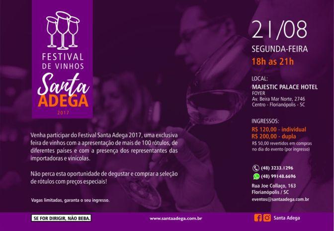 Festival de Vinhos 2017 – Santa Adega, 21/08/2017